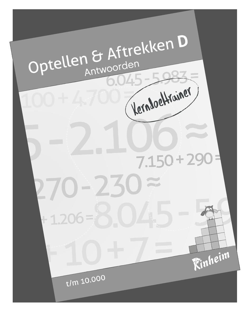 KerndoeltrainerOptellen&AftrekkenD_Antw