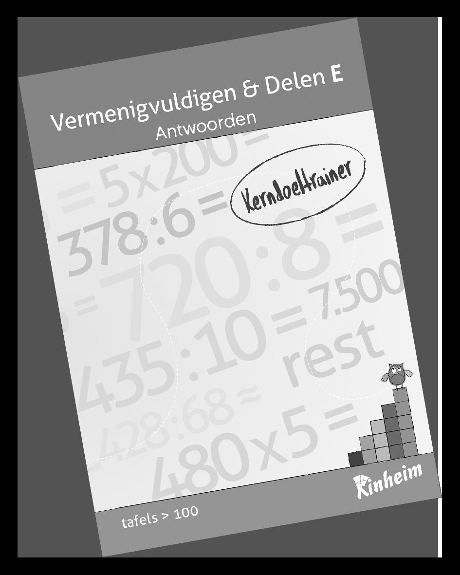 KerndoeltrainerVermenigvuldigen&Delen_E Antw