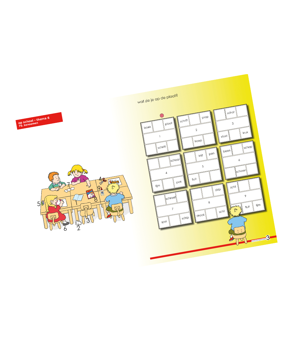 Kinheim Taalkaart Gr3 Th6 Op school – 01