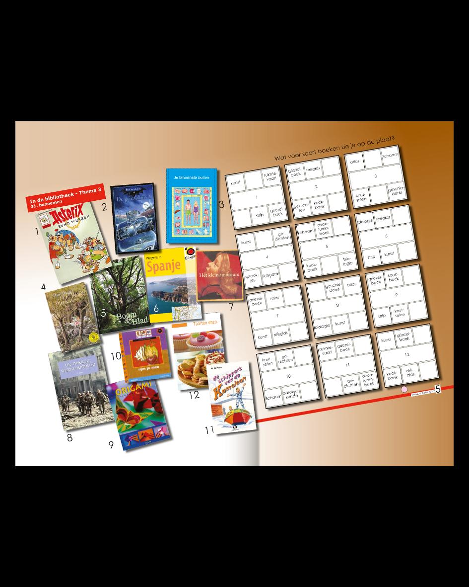 Kinheim Taalkaart Gr5 Th3 In de bibliotheek – 01